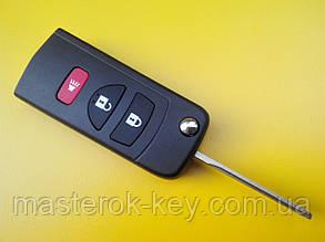 Заготовка выкидного ключа Nissan 3 кнопки 001#