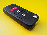Заготовка выкидного ключа Nissan 3 кнопки 001#, фото 4