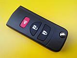 Заготовка выкидного ключа Nissan 3 кнопки 001#, фото 3