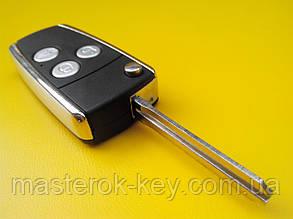 Заготовка выкидного ключа Toyota три кнопки