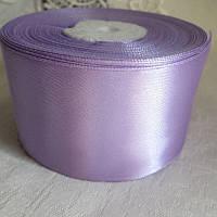 Стрічка атласна 5 см, світло фіолетовий
