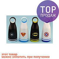 Термос супергерой с круглой ручкой, 4 вида / товары для отдыха