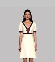 Платье Gucci с бантиком беж