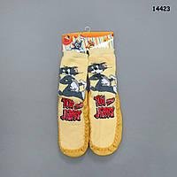 """Домашние носочки-тапочки """"Том и Джерри"""", р.30/31 (длина по подошве 19 см)"""