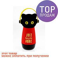Термос Кот в наушниках / товары для отдыха