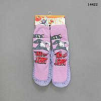 """Домашние носочки-тапочки """"Том и Джерри"""" для девочки, р.30-31 (длина по подошве 19 см)"""