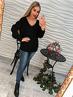 Свитер женский красивый свободного кроя со шнуровкой сзади (3 цвета)