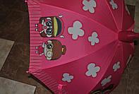 Детский зонт трость, полуавтомат полиестер с чехлом