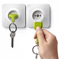 Ключница настенная и брелок для ключей Unplug Qualy (белый-зеленый)