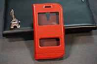 Чехол книжка для Samsung Galaxy S Duos S7562 S7560 цвет красный