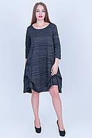 Стильное платье-туника  темно серый  разм 50  Код 591, фото 1