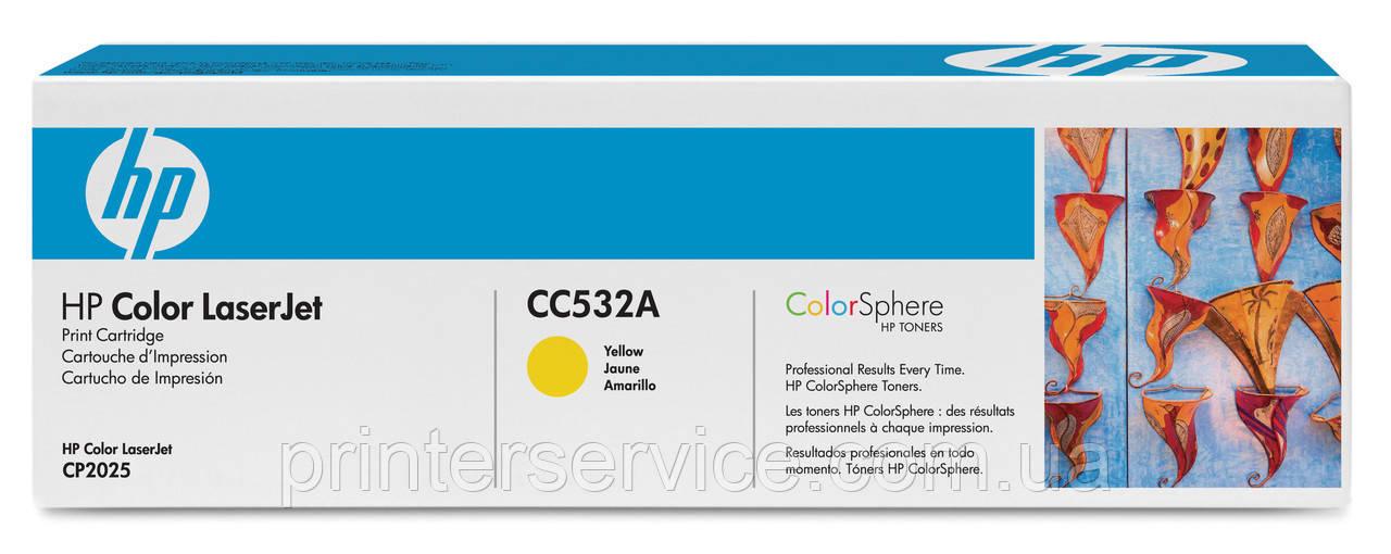 HP CC532A (304A) yellow картридж для HP LJ CM2320nf/ 2320fxi/ CP2025dn/ CP2025n
