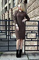 Вязаная женское платье туника Вишня в расцветках, фото 1