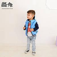 Дутая жилетка на мальчика ( голубая )