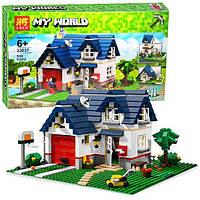 Конструктор Lele серия My World 33037 Загородный дом 3в1 (аналог Lego Майнкрафт, Minecraft)