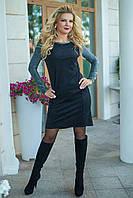Замшевое Платье в черном цвете