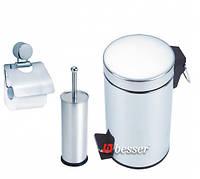 Набор аксессуаров для ванной хром - 3 предмета