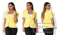 Женский эффектный пиджак в больших размерах с коротким рукавом s-498BR