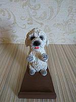 Подставка для телефона (смартфона) собачка белый пудель