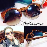 Женские стильные круглые солнцезащитные очки f-546JA
