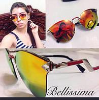 Стильные яркие женские солнцезащитные очки в необычной оправе z-822JA