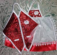 Одежки для свадебного шампанского (красные)