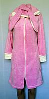 Детский халат на молнии для девочки 42-48 р. Зайчик