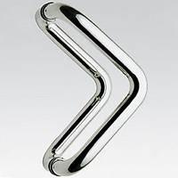 Ручка дверная  ТРЕУГОЛЬНАЯ из нержавеющей стали (комплект).