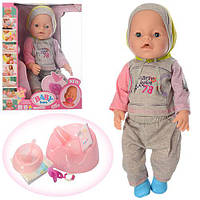 Кукла Пупс Baby Born (Беби Борн) BB 8006-445B. 42 см, 9 функций, 9 аксессуаров