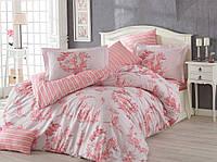 Комплект постельного белья  HOBBY Poplin Vanessa розовый евро комплект