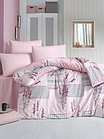 Постельное белье LIGHTHOUSE ranforce BURCAK розовый