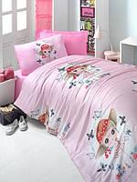 Постельного белья подростковое LIGHTHOUSE ranforce CANDY GİRL розовый