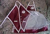 Одежки для свадебного шампанского (бордовые)
