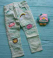 Стильные джинсы на девочку 2-3 лет