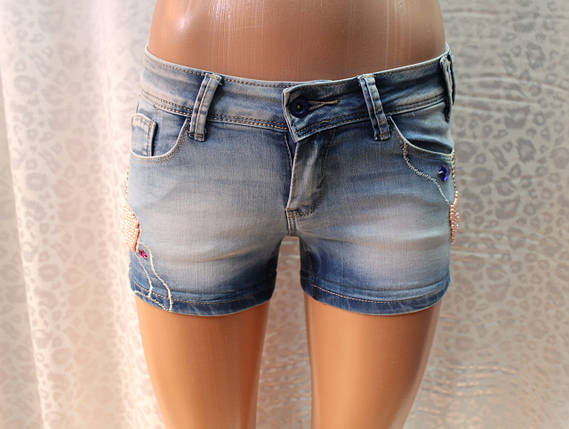 Короткие женские шорты с вышивкой бисером, фото 2