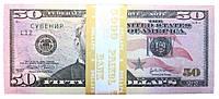 """Деньги сувенирные """"50$"""". В упак:80шт."""