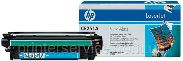 Картридж HP CE251A cyan для color LaserJet CM3530/CP3525 (504A Cartridge)