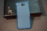 Чехол бампер силиконовый Huawei Y7 цвет синий