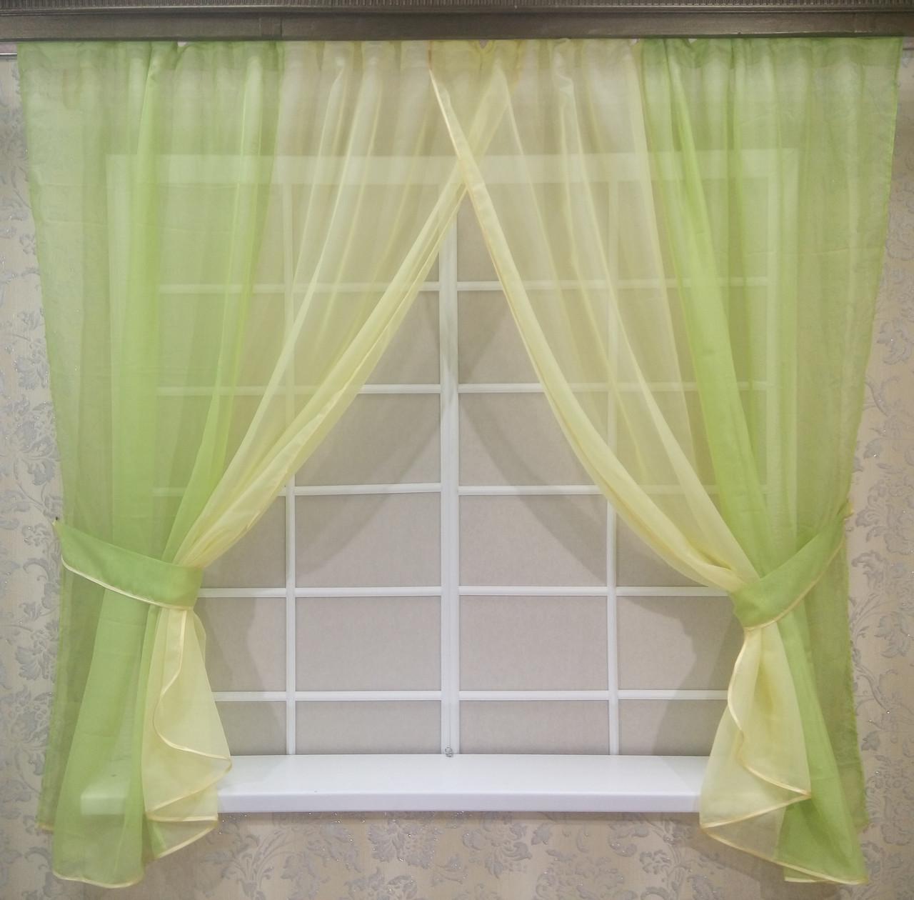 Комплект штор Кларис Дыня, кухонные