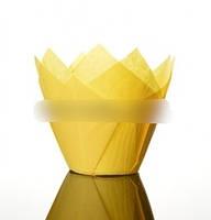 Baking Tools Бумажные формы для выпекания кексов Тюльпан жёлтый 8x5 см 12 шт