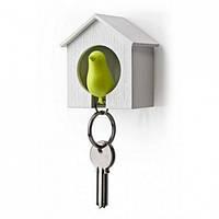 Ключница настенная и брелок для ключей Sparrow Qualy (белый-зеленый)
