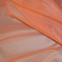 Тюль микросетка с высотой 325 см оранжевая