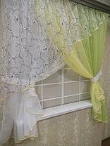 """Кухонные шторы """"Сакура"""" Дыня, фото 2"""