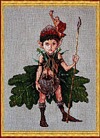 """Набор для вышивания крестом 36-A0021 К """"Домовой дубов"""" (Lutin des Chenes) NIMUЁ"""