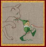 """Набор для вышивания крестом 48-A0026 К (Aida) """"Мик 6 Кошка"""" (Mic 6 Le Chat) NIMUЁ"""