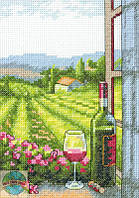 """Набор для вышивания крестом 70-65137 """"Вино с видом из окна"""" DIMENSIONS"""