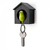 Ключница настенная и брелок для ключей Sparrow Qualy (черный-зеленый)