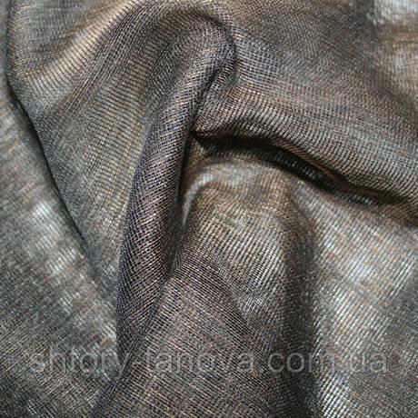 Тюль микросетка luca темно-коричневый