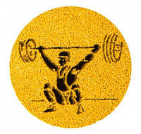 Наклейка на медаль Тяжелая атлетика 25-0096