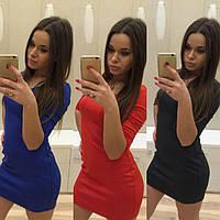 Женское платье мини рукав 3/4 u-2012PL
